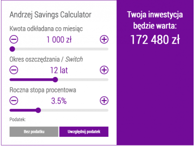 Polish Savings calculator